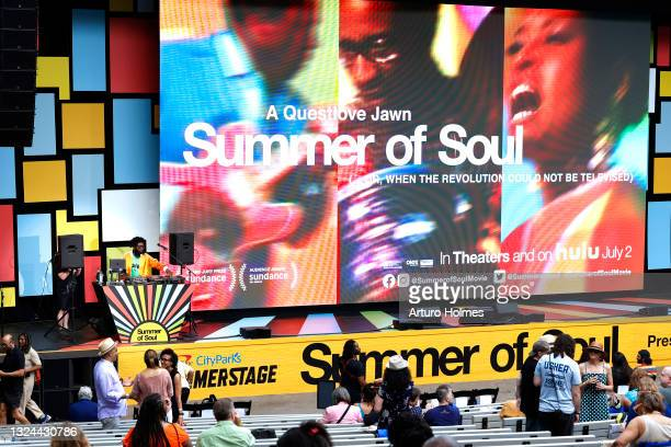 """Questlove performs during Questlove's """"Summer Of Soul"""" Screening & Live Concert at Marcus Garvey Park on June 19, 2021 in New York City."""