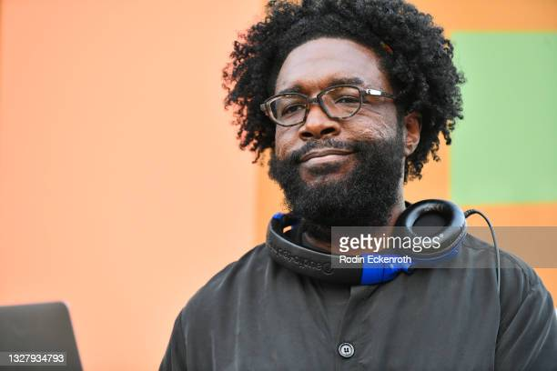 """Questlove performs onstage at the Cinespia Special Screening of Fox Searchlight and Hulu's """"Summer Of Soul"""" with Questlove at The Greek Theatre on..."""