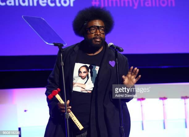 Questlove speaks on stage during Tribeca Disruptive Innovation Awards 2018 Tribeca Film Festival at Spring Studios on April 24 2018 in New York City