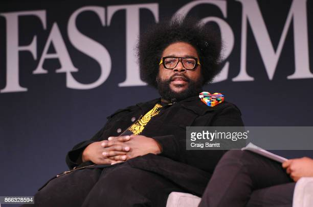 Questlove speaks onstage for Creativity By Osmosis KENZO's Carol Lim And Humberto Leon Questlove during the Fast Company Innovation Festival at 92nd...