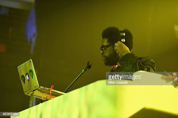 Questlove spins at MercedesBenz Evolution Tour with Alabama Shakes and Questlove at Terminal 5 on July 24 2014 in New York City