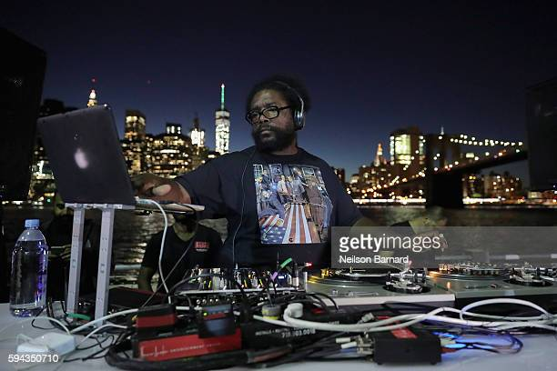 Questlove spins during the National Park Foundation's #FindYourPark event celebrating the National Park Service's centennial at Brooklyn Bridge Park...