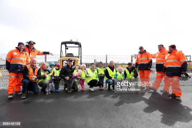 Quests from Queens Park Childcare Centre pose for a photo with Lex Chisholm Ed Mumm and the instructors at Dig This on October 2 2017 in Invercargill...