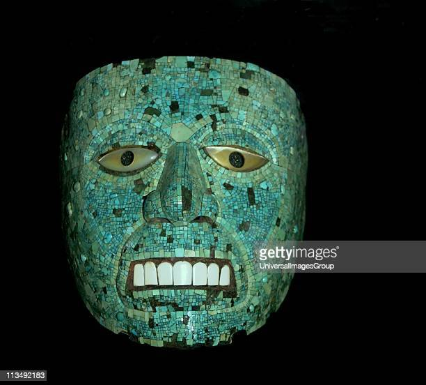 Quetzacoatl depicted in a turquoise mosaic mask MixtecAztec deity