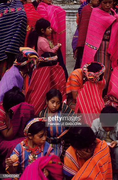 Quetzaltenango Guatemala Women in colorful dress Zunil