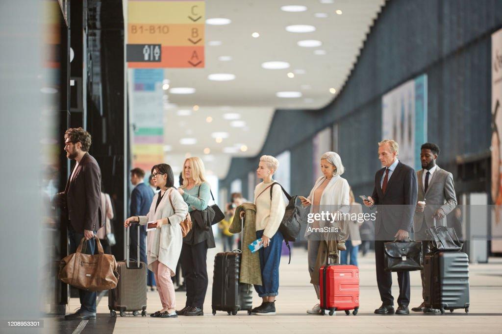 Queue At Airport Customs : Stock Photo
