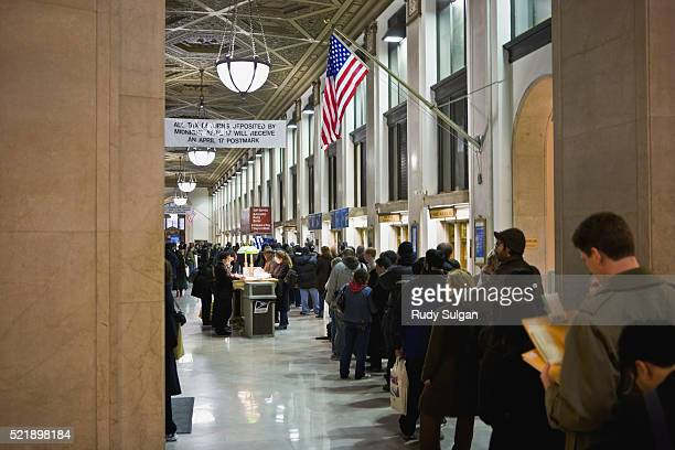 Queue at Post Office on Tax Day