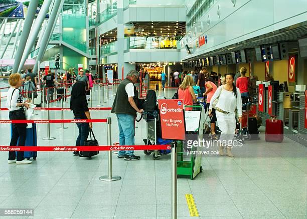 Queue for bagge drop-off at Air Berlin desk