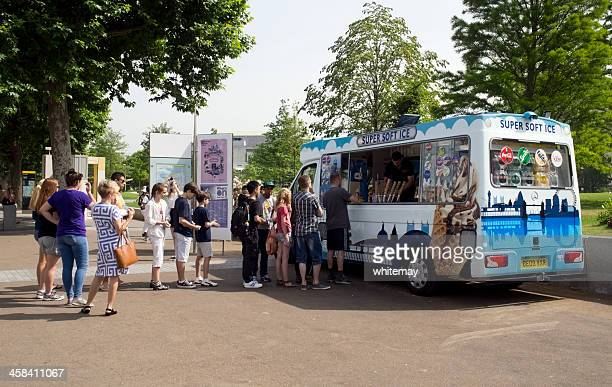 Queuing for ice cream on London's South Bank