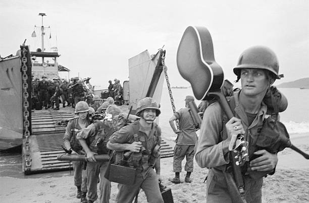 American Soldiers Arriving in Vietnam