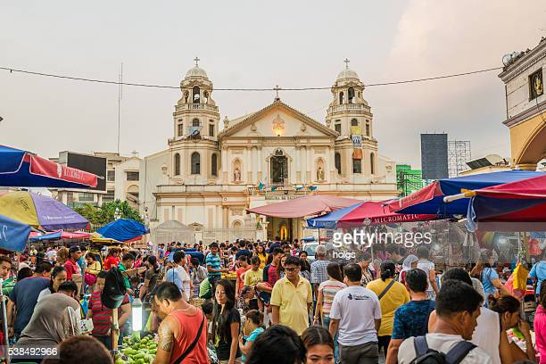 quiapo church in manila, philippines - manila philippines stock pictures, royalty-free photos & images