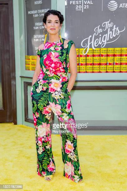 """Quiara Alegría Hudes attends """"In The Heights"""" 2021 Tribeca Festival opening night premiere at United Palace Theater on June 09, 2021 in New York City."""