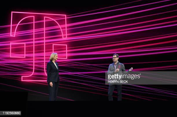 Quibi CEO Meg Whitman and T-Mobile Chief Operating Officer Mike Sievert speak about the short-form video streaming service for mobile Quibi during a...