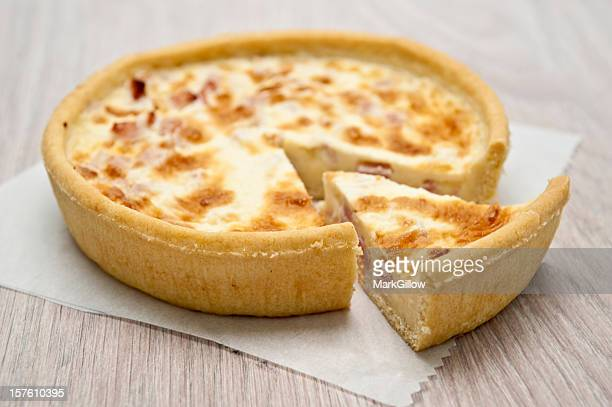 quiche - savory pie stock photos and pictures