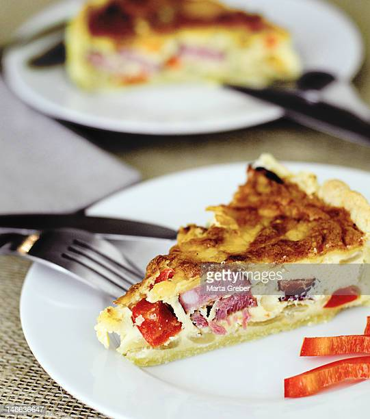 Quiche with sausage and vegetable