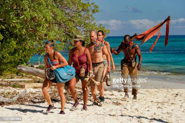 Quick on the Draw Denise Stapley Sandra DiazTwine Tony Vlachos Kim Spradlin and Jeremy Collins on the Sixth episode of SURVIVOR WINNERS AT WAR airing...