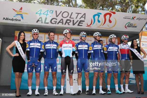 QuickStep Floors before the 1st stage of the cycling Tour of Algarve between Albufeira and Lagos on February 14 2018