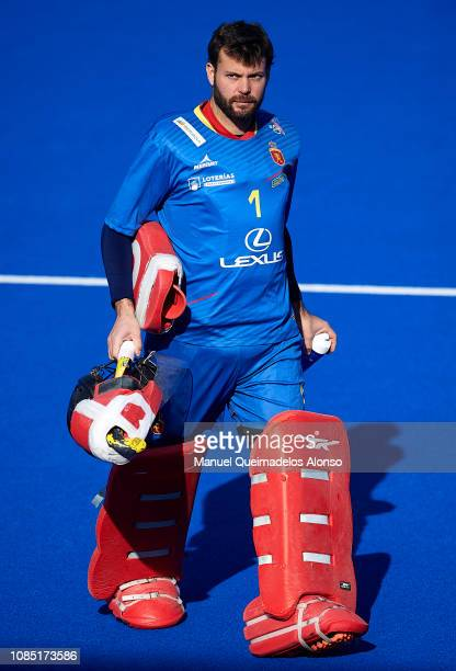 Quico Cortes of Spain looks on during the Men's FIH Field Hockey Pro League match between Spain and Belgium at Polideportivo Virgel del CarmenBetero...