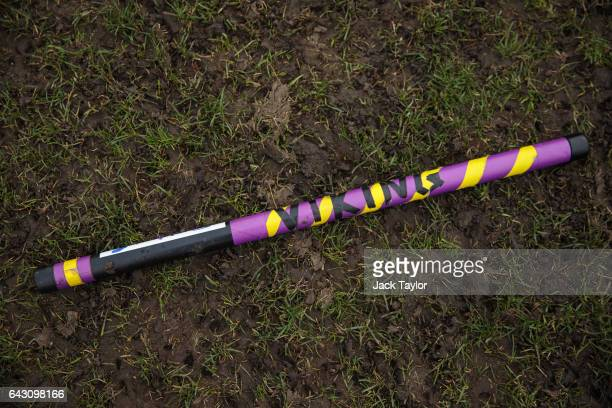 Quidditch player Eva Verpe's broom is pictured laying on the grass before the Crumpet Cup quidditch tournament on Clapham Common on February 18 2017...