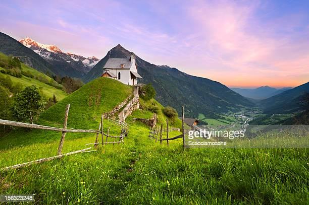 Ruhige alpine Szene