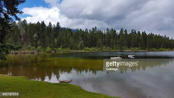 Calme et Seul avec la La nature sur le lac