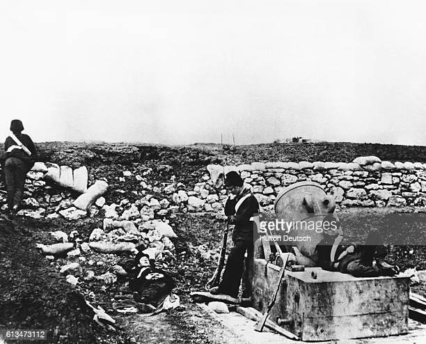 Quiet Day At The Front One Of The First War Photographs The war of 185456 fought mainly in the Crimean peninsula between Russia on the one hand and...