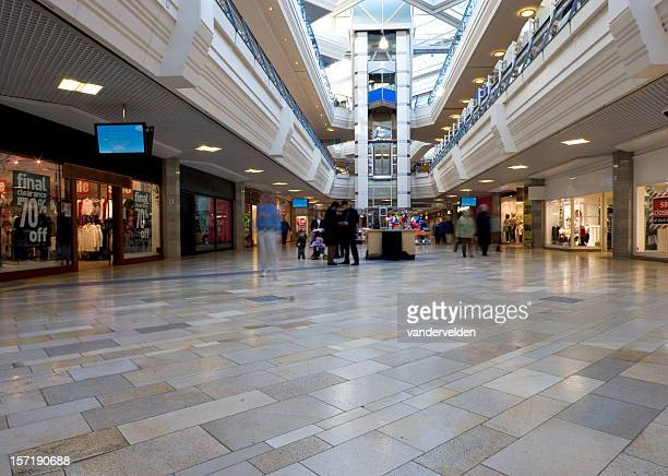 quiet day at the mall - indoors stock pictures, royalty-free photos & images