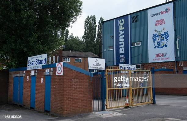 A quiet Gigg Lane home of Bury FC following the postponement of their opening match against MK Dons after the club failed to satisfy the EFL that...