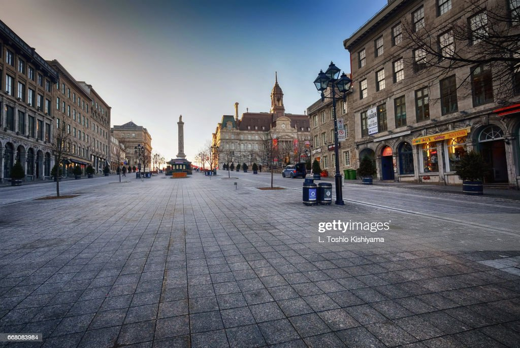Quiet in Old Montreal, Canada : Stockfoto