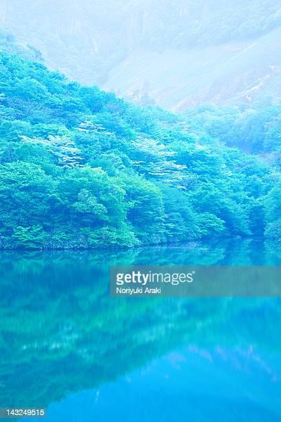 quiet lake - 鳥取県 無人 ストックフォトと画像