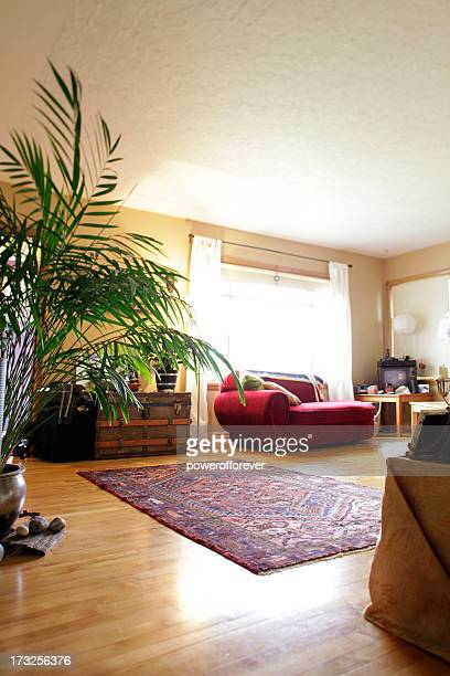 quiet living room - persian rug stock photos and pictures