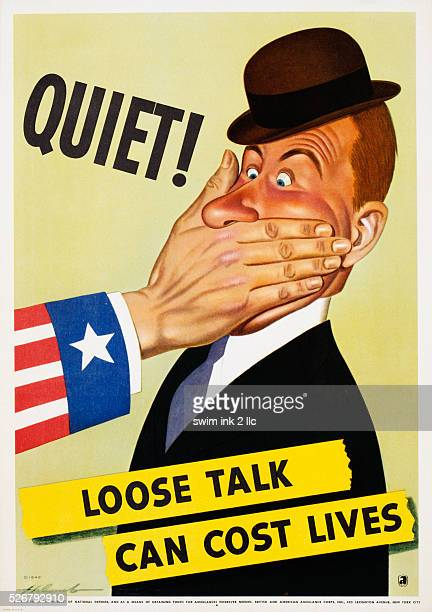 Quiet Loose Talk Can Cost Lives Poster by Holcomb