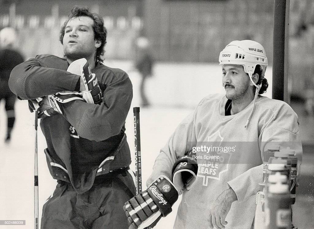 Quiet Mood: Dave Semenko has his quiet times; but they come during practice sessions and no in games : News Photo