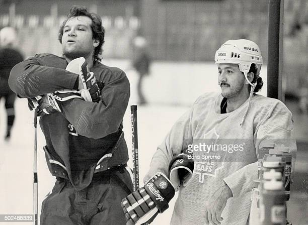 Quiet Mood Dave Semenko has his quiet times but they come during practice sessions and no in games