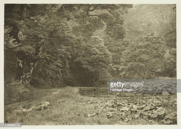 Quiet Nook in Beresford Dale, 1880s. A work made of photogravure, plate liii from the album 'the compleat angler or the contemplative man's...