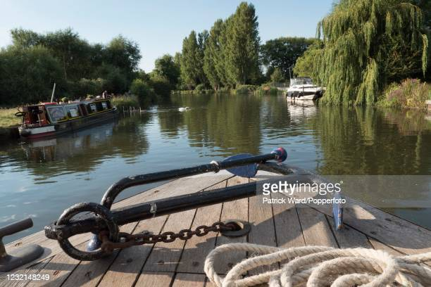 """Quiet rural stretch of the River Thames between Oxford and Abingdon, circa August 2016. An image from Patrick Ward's monograph, """"The Golden Thread"""",..."""