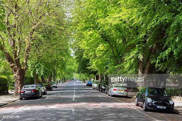 Rue calme à Dublin, en Irlande