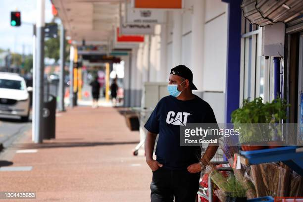 Quiet streets outside Hunters Plaza, Papatoetoe, a location of interest after Covid-19 affected Case M visited there last week on February 28, 2021...