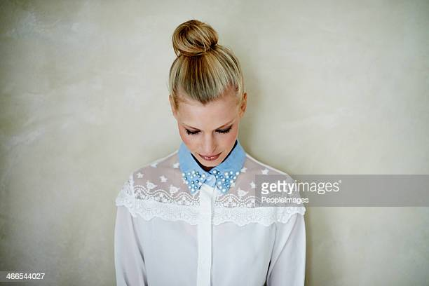 quiet style - hair bun stock pictures, royalty-free photos & images
