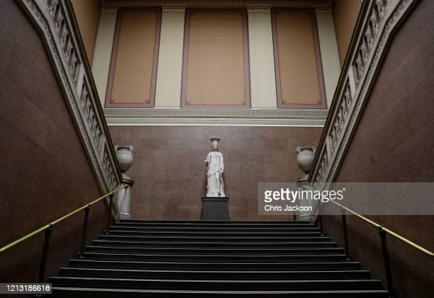 Quieter than usual British Museum on March 17, 2020 in London, England. Boris Johnson held the first of his public daily briefing on the Coronavirus...