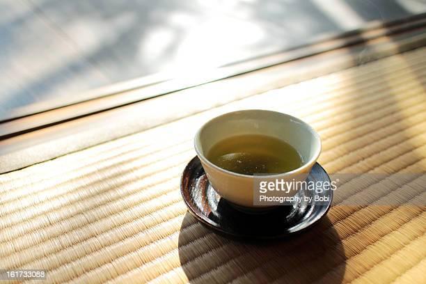 Quietly enjoy tea in Nagasaki, Japan