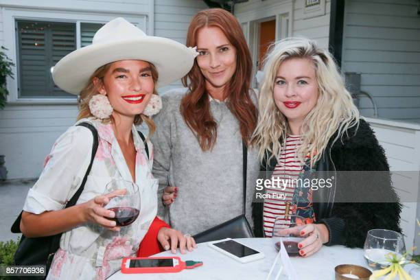 Quigley Samantha Wennerstrom and Bri Emery attend the Fossil x The Amber Interiors Launch Dinner at Lombardi House on October 4 2017 in Los Angeles...