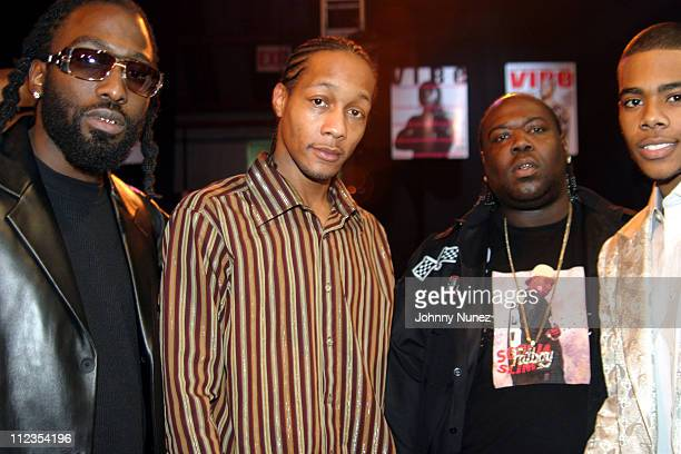 Quick 8Ball and Mario during 2004 Vibe Awards Red Carpet at Barker Hanger in Santa Monica California United States