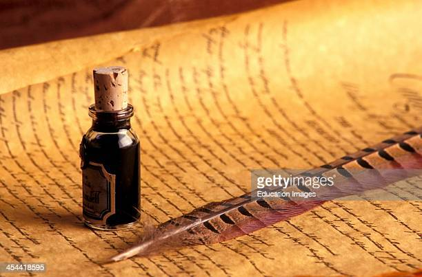 Quill Pen Ink And Parchment
