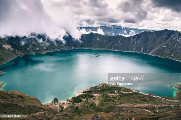quilotoa, cotopaxi, ecuador - caldera stock pictures, royalty-free photos & images