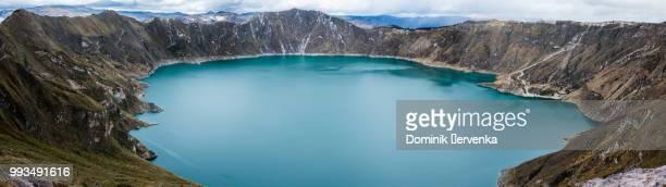 quilotoa lake - ecuador fotografías e imágenes de stock
