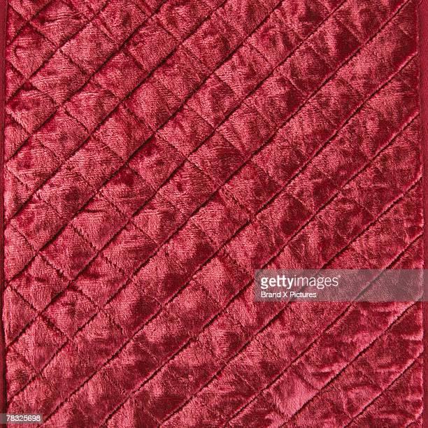 Quilted red velvet