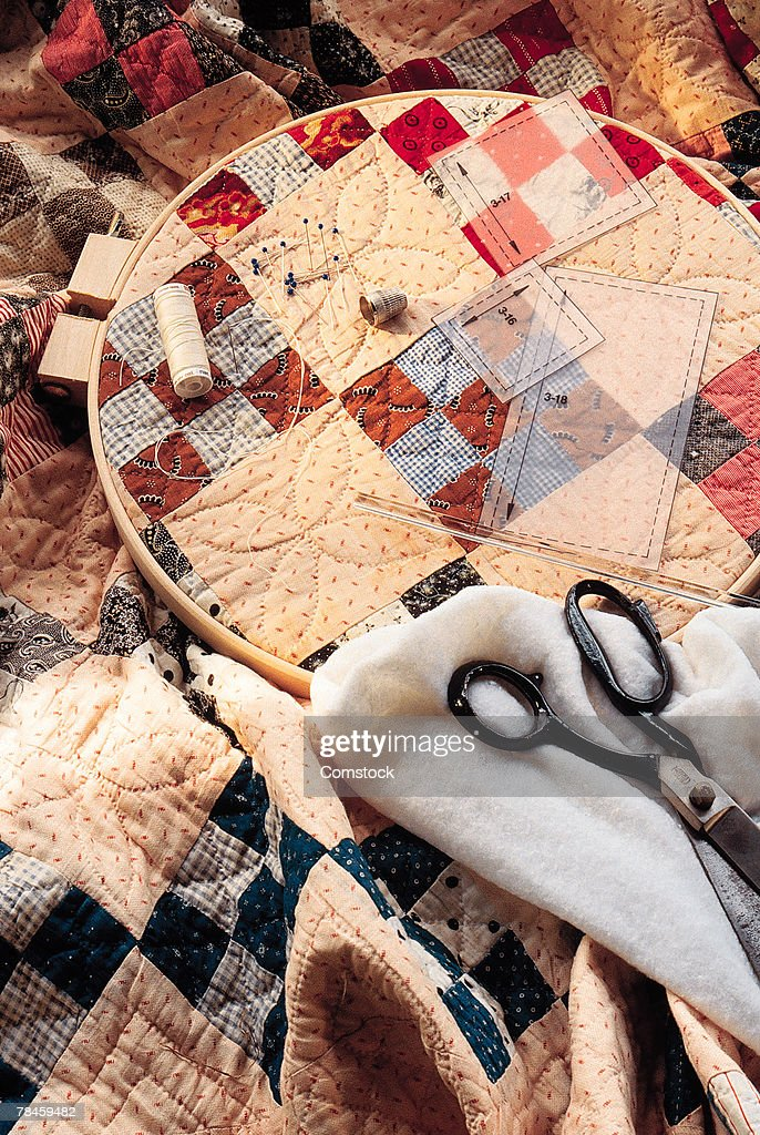 Quilting objects : Stock Photo