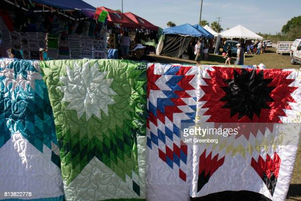 Quilts for sale at the Big Cypress Shootout event at Billie Swamp Safari