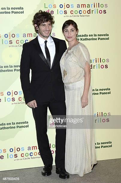 Quim Gutierrez and Emmanuelle Beart attend the 'Los Ojos Amarillos de los Cocodrilos' premiere the Academia del Cine on April 30 2014 in Madrid Spain